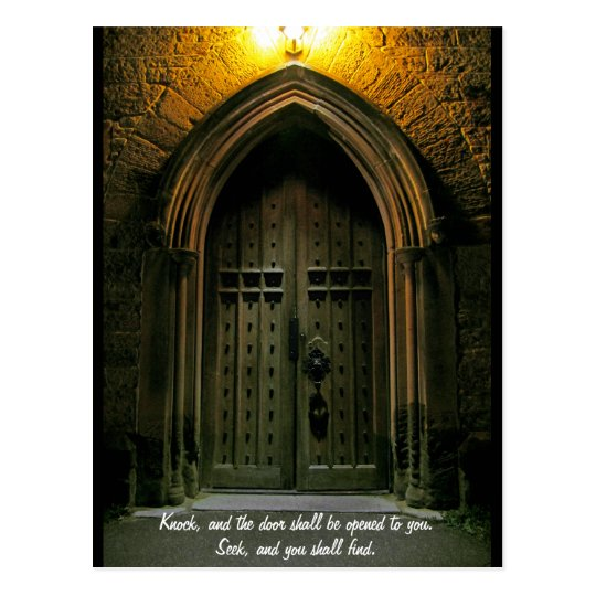 Knock and the Door Shall Be Opened (1) Postcard