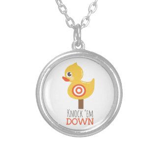 Knock 'Em Down Round Pendant Necklace