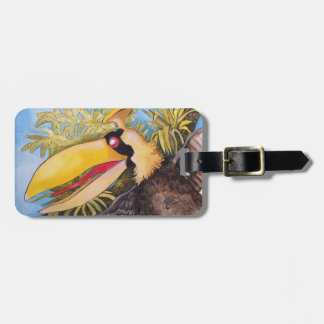 """Knock Knock Bird"" Art by Mike Quinn Bag Tag"