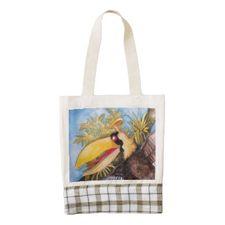 """Knock Knock Bird"" Art by Mike Quinn Zazzle HEART Tote Bag"
