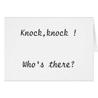 Knock,knock !  Card                      ...