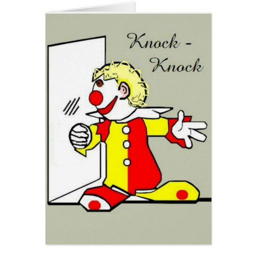 Knock-Knock Clown Joke Birthday Greeting Card