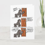 Knock Knock Gorilla Yourself A Steak Card