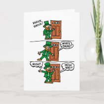 Knock Knock Happy St Patrick's Day Card