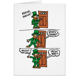 Knock Knock Happy St Patrick's Day Card
