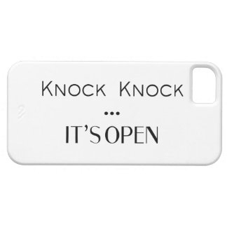 Knock Knock It's Open iPhone 5/5S Cover