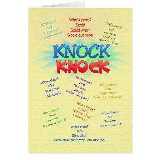 Knock knock Jokes birthday card | Zazzle