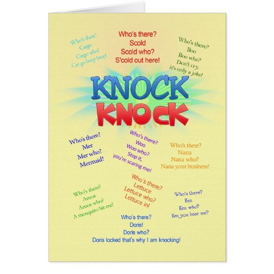 Knock Knock Jokes Birthday Card