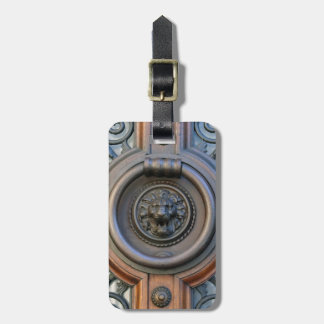 Knock Knock Lion Door Knocker Luggage Tag