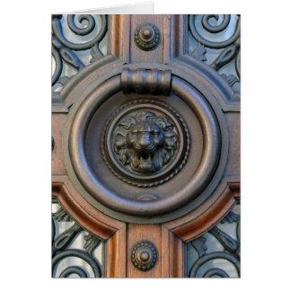 Knock Knock - Lion Door Knocker Scripture Card