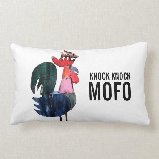 knock knock mofo/juanita lumbar pillow
