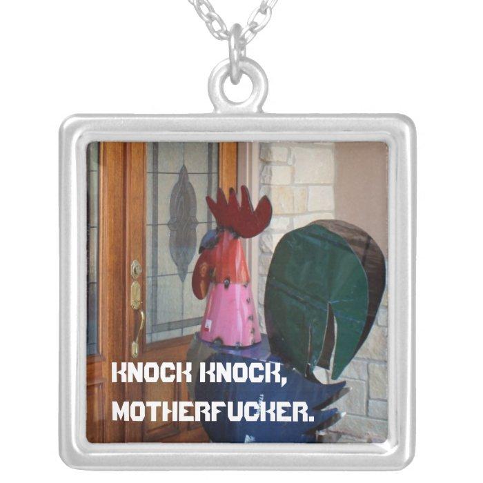 Knock-knock necklace