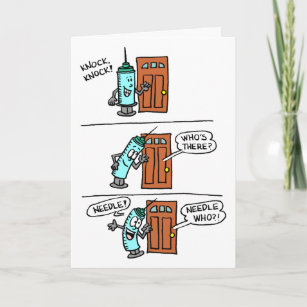 Knock Knock Needle Little Recognition Nurses Day Card