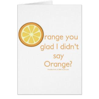 Knock Knock (orange) Card