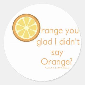 Knock Knock (orange) Classic Round Sticker