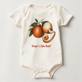 Knock, Knock, Orange I a Cute Baby? Baby Bodysuit