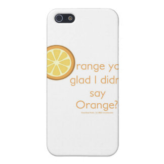 Knock Knock (orange) Covers For iPhone 5