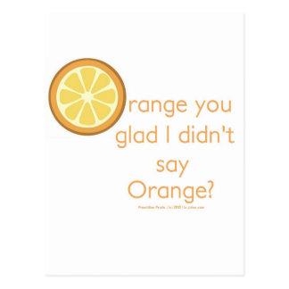 Knock Knock (orange) Postcard