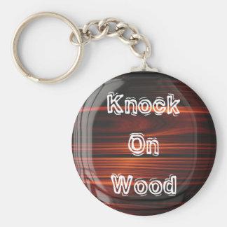 Knock On Wood Keychain