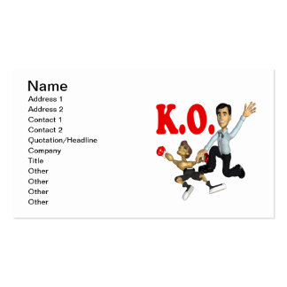 Knock Out 2 Business Card Template