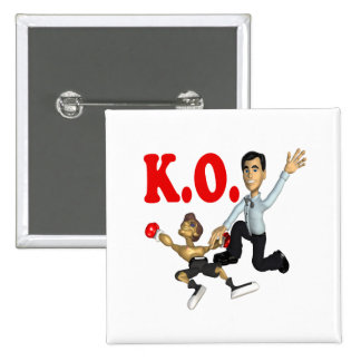 Knock Out 2 Pinback Button