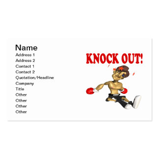 Knock Out 4 Business Card