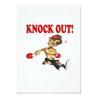 """Knock Out 4 5"""" X 7"""" Invitation Card"""