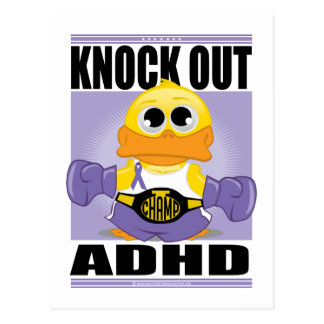 Knock Out ADHD Postcard