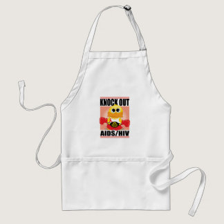 Knock Out AIDS/HIV Adult Apron