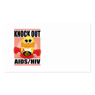 Knock Out AIDS/HIV Business Card