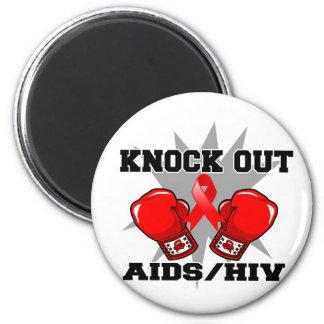 Knock Out AIDS HIV Fridge Magnet