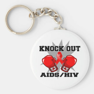 Knock Out AIDS HIV Keychain