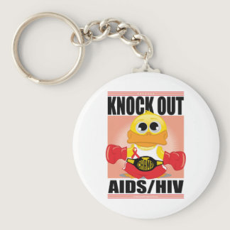 Knock Out AIDS/HIV Keychain