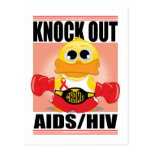 Knock Out AIDS/HIV Post Cards