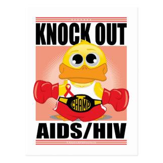 Knock Out AIDS/HIV Postcard