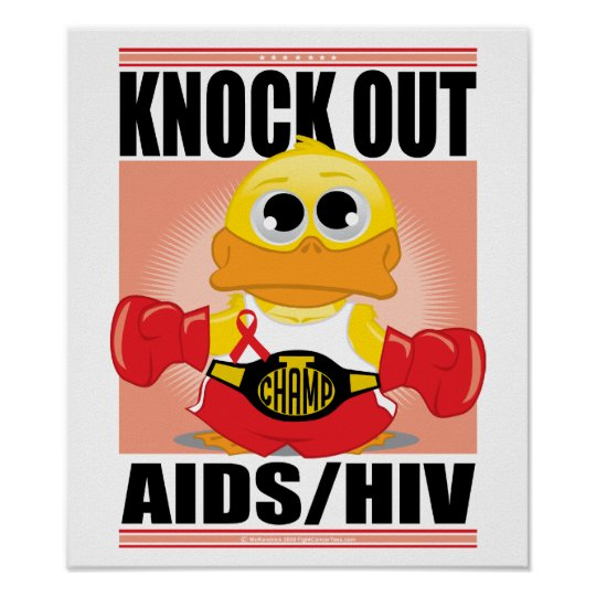 Knock Out AIDS/HIV Poster