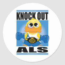 Knock Out ALS Classic Round Sticker