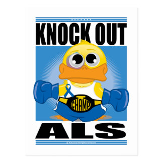 Knock Out ALS Postcard