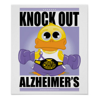 Knock Out Alzheimer s Disease Poster