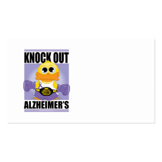 Knock Out Alzheimer's Disease Business Card