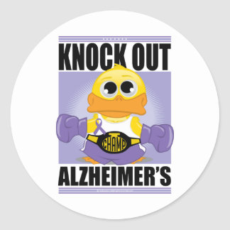 Knock Out Alzheimer's Disease Classic Round Sticker