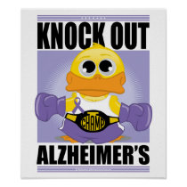 Knock Out Alzheimer's Disease Poster