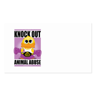 Knock OUT Animal Abuse Business Card