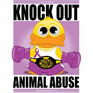 Knock OUT Animal Abuse Cutout