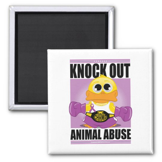 Knock OUT Animal Abuse Magnet