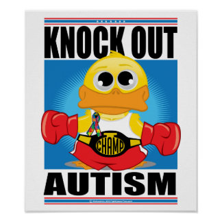 Knock Out Autism Poster