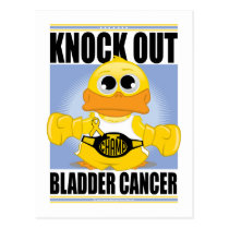Knock Out Bladder Cancer Postcard