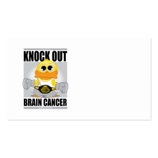 Knock Out Brain Cancer Business Card