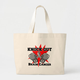 Knock Out Brain Cancer Canvas Bags