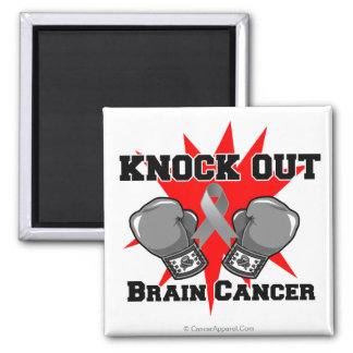 Knock Out Brain Cancer Fridge Magnets